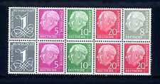 GERMANY - GERMANIA REPUBBLICA FEDERALE - 1954-1958 da LIBRETTO.T.HEUSS. RN460