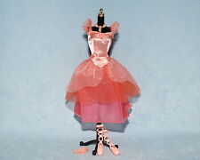 PRETTY Pastel Pink w/ Glitter Genuine BARBIE Ballerina Dress w/ Shoes Jewelry