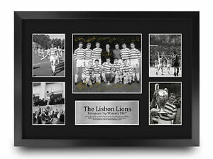 Celtic Lisbon Lions 1967 UEFA Euro Cup Winners Signed A3 Poster for Football Fan
