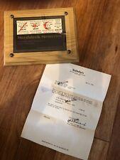 New listing Vintage Woodstock original 3 day pass ticket. Sotheby's verified Woodstock tics