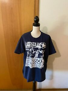 Battle Of The Bands Rockband Rivals Adult Graphic Crew Neck Tee B48 L27.5