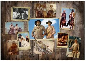 Puzzle BUD SPENCER TERENCE HILL Western Photo Wall 1000 Pezzi 68x48cm ORIGINALE