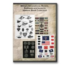 Military Decorations, Medals, Emblems and Insignia Historic Book Collection CD