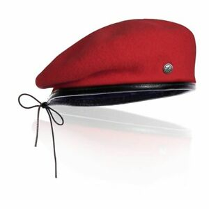 NEW Authentic ORION French Military Laulhere Beret Deluxe 100% Merino RED No Box