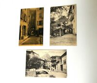 "Annot France Various Vtg 5.5"" French RPPC Postcards"