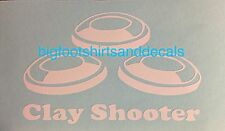 Car Decal Shotgun Clay Shooter Pigeon Trap Skeet 12ga Target Sports Competition