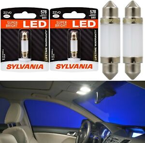 Sylvania ZEVO LED Light 578 White 6000K Two Bulbs Step Door Replace Upgrade Lamp