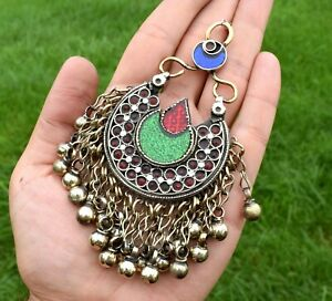 Kuchi Silver Tribal Vintage Pendant Necklace Afghan Jewelry Dance Head Ethnic