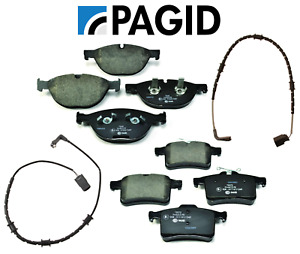 Front Brake Pads & Rear Brake Pads Set OEM Pagid + Sensors Jaguar V8 5.0L 10-15