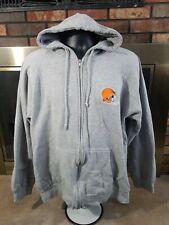 Cleveland Browns NFL Football Zip Hooded Sweatshirt Mens Sz Medium Logo Athletic