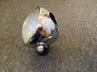 "6 1/2"" Miller Chrome Headlight Headlamp bsa triumph norton ajs matchless velocet"