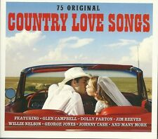 COUNTRY LOVE SONGS - 3 CD BOX SET - GLEN CAMPBELL, JIM REEVES & MORE