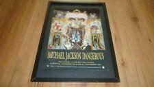 MICHAEL JACKSON dangerous-framed original poster sized advert