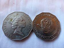 1 x 1991 50 cent australian Rams Head 25 Anniv decimal Currency circ Low Mintage