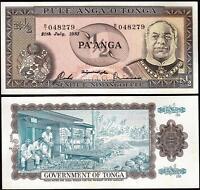 Tonga 1/2 - 0.5 Pa'anga 1983, Aunc / Unc, P-18c, Prefix B/1