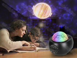 Star Night Light Music Remote Laser LED Starry Sky Galaxy Projector For Baby Kid