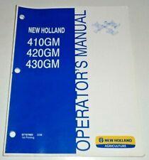 New Holland 410gm 420gm 430gm Finish Mower Operators Manual 308 Nh Original