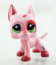 #2598 Dog Puppy Strawberry Mauve Pink Patches Green Eyes Littlest Pet Shop LPS