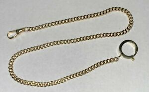 """Antique Solid 14K Gold Victorian 14"""" Pocket Watch Chain 16.4 Grams SHIPS FREE"""