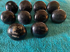 10 Antique Black ceramic Doorknobs - As Found Condition - See Pictures