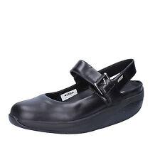 scarpe donna MBT 37 ballerine nero pelle AC375-B
