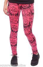 130399 Pink Melting Monsters Leggings Sourpuss Creepy Punk Goth Horror Small