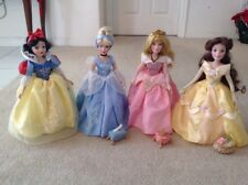 "16"" Walt Disney Princess Porcelain Dolls Aurora, Cinderella, Belle & Snow White"