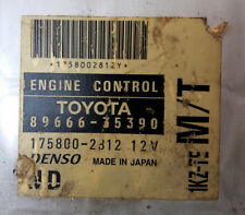 Toyota 89666-35390 1KZ-TE M/T Super Rare Ecu Ecm Pcm Oem Jdm Used