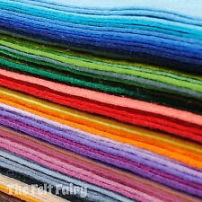 "Wool Blend Felt Rainbow of all 69 Colours 9"" x 4.5"" / 23cm x 11cm Sheets"