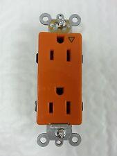 Isolated Ground Orange Decorator Duplex Receptacle Industrial Grade Decora 15A