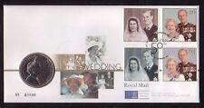 G.B. 1997 Golden Wedding official Royal Mint coin cover