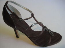 BCBG MAXAZRIA MAETIS BROWN SATIN PUMP WOMEN SHOES 7