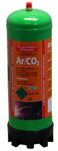 Argon/Co2 220ltr gas bottle for MIG welding disposable cylinder