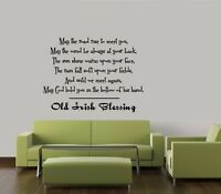 IRISH BLESSING VINYL WALL QUOTE DECAL STICKER VINYL HOME SAYING LETTERING QUOTE