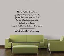 IRISH BLESSING WALL QUOTE DECAL STICKER VINYL HOME SAYING