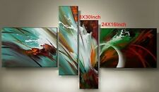 H015 4PCS Modern Abstract Large Wall Decor OIL PAINTING On Canvas hand-drawn