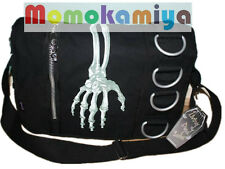 JAWBREAKER MESSENGER BAG BN SKELETON HAND.METAL RINGS SCHOOL HOLIDAY BAG DBG2510