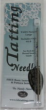 HANDY HANDS #0-0 Large Yarn Tatting Needle w/ Threader & Pattern