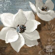White Magnolias I ists Art Poster Print by Lanie Loreth, 24x24