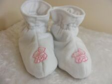 ADULT BABY SISSY BOOTIES PADDED white fleece OPT  BELLS COLOUR COSPLAY