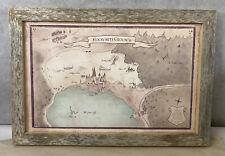 Harry Potter Hogwarts Grounds Map Framed Signed 19x13