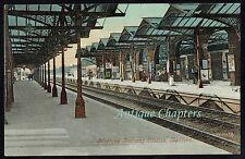 c1905 Midland Railway Station Bedford Bedfordshire Postcard B299