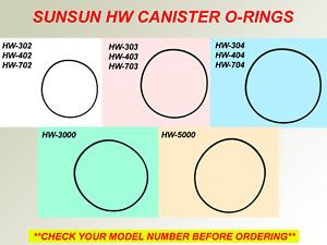SUNSUN CANISTER O-RING GASKET HW-302 303 304 402 403 404 702 703 704 3000 5000