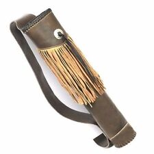 CAROL TRADITIONAL LEATHER BACK ARROW QUIVER AQ105 BROWN