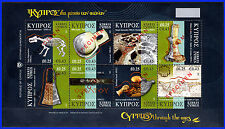 CYPRUS 2007 CYPRUS THROUGH THE AGES SHEETLET - SPECIMEN MNH