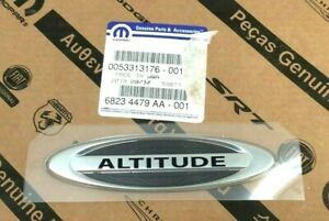 2014-2017 Jeep Compass Patriot Altitude liftgate chrome Nameplate Emblem OEM
