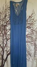 L8ter brand blue maxi dress junior's size large