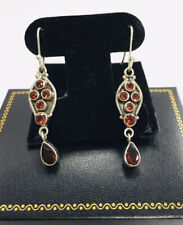 Dangling 3.20ct Garnet Earrings 2.10� New listing