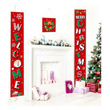 Welcome Christmas Signs Porch Tür Banner Home Party Yard