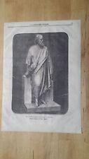 1872 Esposizione Nazionale Milano Socrate Statua in marmo di Pietro Magni